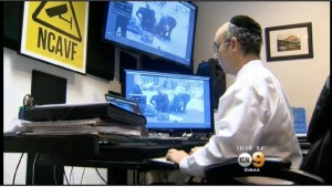 NCAVF Notowitz interview still image, KCAL 9 KCBS 2 3-2-2015 re LAPD shoot homeless man