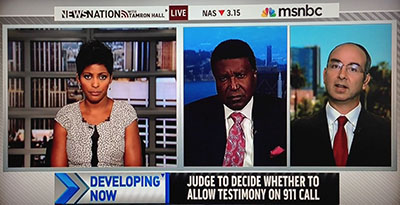 MSNBC interview by Tamron Hall of NCAVF forensic audio expert David Notowitz