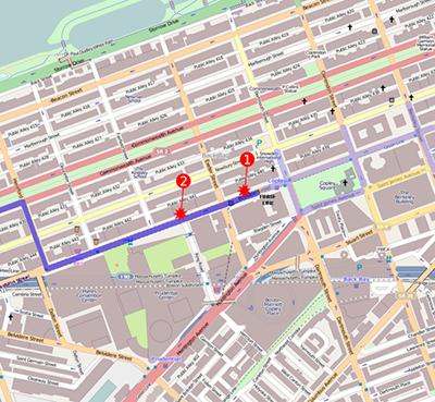 Map of Bombings